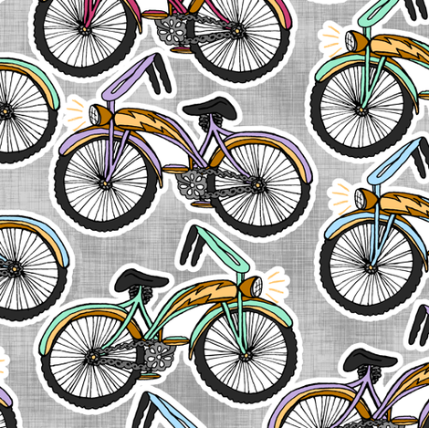 Cream-cycles fabric by pond_ripple on Spoonflower - custom fabric
