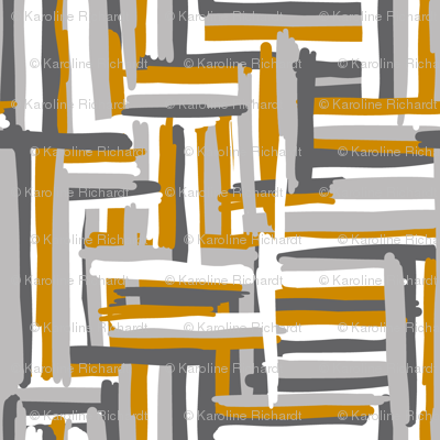 hannah // mustard-grey // simple shapes collection