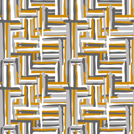 hannah // mustard-grey // simple shapes collection fabric by modeern on Spoonflower - custom fabric