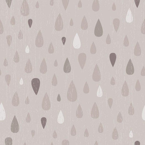 Taupe Teardrops
