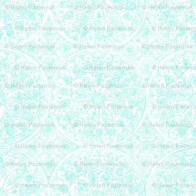 Cycling Mandalas (mint-white)