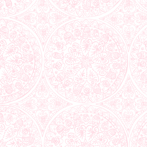 Cycling Mandalas (peach-white) fabric by helenpdesigns on Spoonflower - custom fabric
