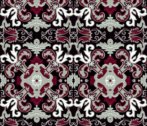 17eme siecle holiday fabric by hypersphere on Spoonflower - custom fabric