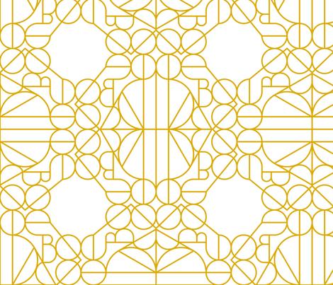 Marrakesh Gold Pattern fabric by anxelaruxa on Spoonflower - custom fabric