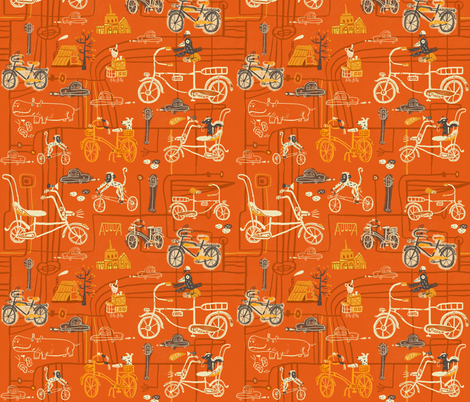 Pedal Power fabric by skbird on Spoonflower - custom fabric