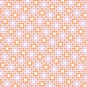 Dot Matrix* (Valencia & Pink Cow) || polka dots dot bitmap pixel pixelated houndstooth check plaid 70s retro vintage