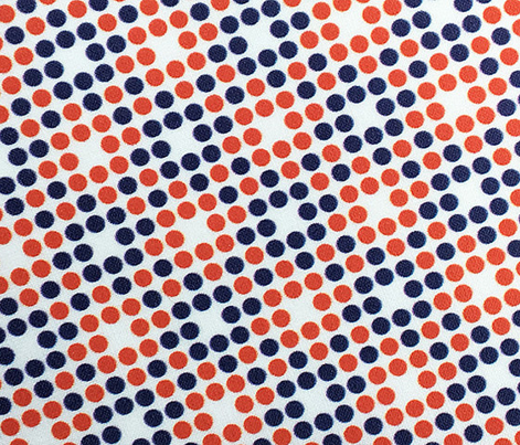 Dot Matrix* (Tomato Soup & Jackie Blue) || polka dots dot bitmap pixel pixelated houndstooth check plaid 70s retro vintage red patriotic