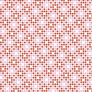 Dot Matrix* (Tomato Soup & Pink Cow) || polka dots dot bitmap pixel pixelated houndstooth check plaid 70s retro vintage red peppermint Christmas holiday