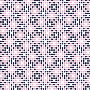 Dot Matrix* (Jackie Blue & Pink Cow) || polka dots dot bitmap pixel pixelated houndstooth check plaid 70s retro vintage preppy