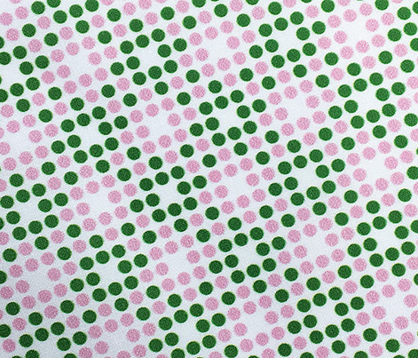 Dot Matrix* (Dollar Bill & Pink Cow) || polka dots dot bitmap pixel pixelated houndstooth check plaid 70s retro vintage preppy