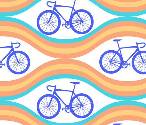 bicycle-pattern fabric by phein on Spoonflower - custom fabric