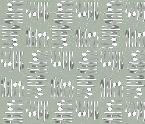 Dinner Table Cutlery  fabric by how-store on Spoonflower - custom fabric