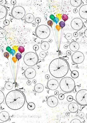 Bike and baloons