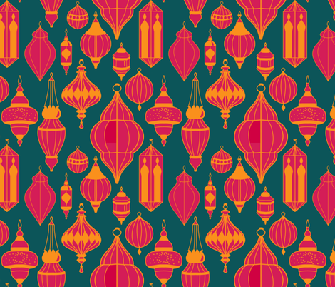 Moroccan Lanterns fabric by new_branch_studio on Spoonflower - custom fabric