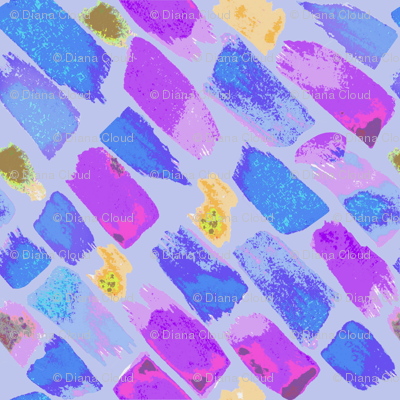 Paint Swatches in Purple