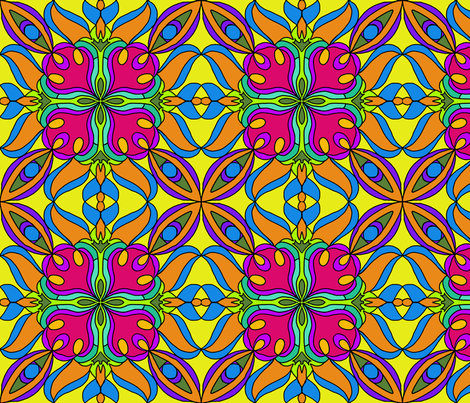 Marrakesh inspired design fabric by linsart on Spoonflower - custom fabric