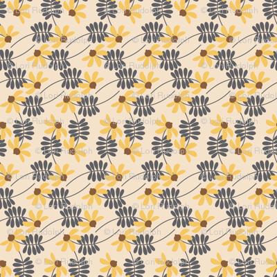 Meadowland daisy chains ~ eggshell