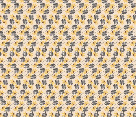 Meadowland daisy chains ~ eggshell fabric by retrorudolphs on Spoonflower - custom fabric