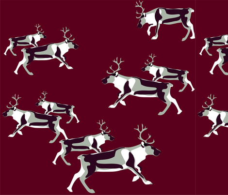 caribou run fabric by gitano on Spoonflower - custom fabric