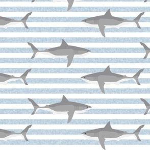shark stripes ocean animals sharks blue