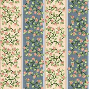 Round Flower Vine Stripes