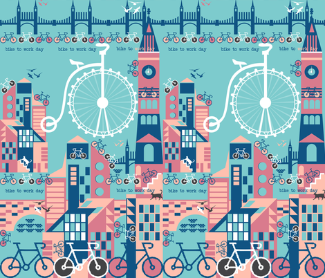 Bike to work day fabric by paula's_designs on Spoonflower - custom fabric