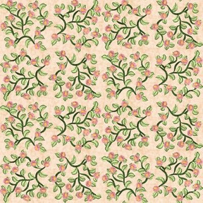 Round Flower Vines Square Dancing