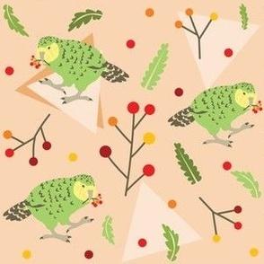 "Peachy Kakapo (Larger print 6"")"