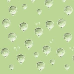 hot-air-balloon light green - small