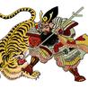 Samurai and tiger fat quarter