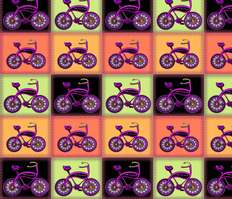 Retro Bikes fabric by carlacryptic on Spoonflower - custom fabric