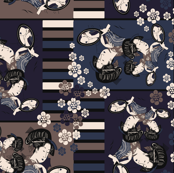 Geisha dark blue