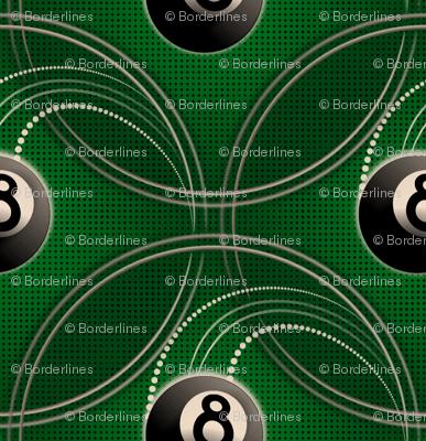 ★ MAGIC EIGHT BALL ★ Green - Large Scale / Collection : 8 Balls - Billiard & Rock 'n' Roll Old School Tattoo Print