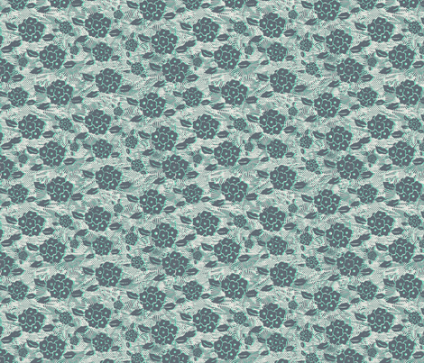 mint grace fabric by susiprint on Spoonflower - custom fabric