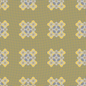 Seamless pattern lace and geometric