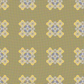 Seamless pattern lace and geometric
