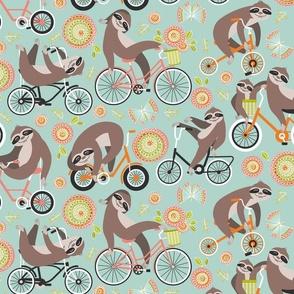 Sloths on bikes
