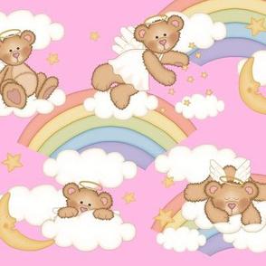 Angel Bear Moon Star Rainbow Cloud Nursery
