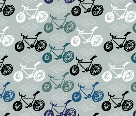 No training Wheels fabric by jacquelynbizzottodesign on Spoonflower - custom fabric