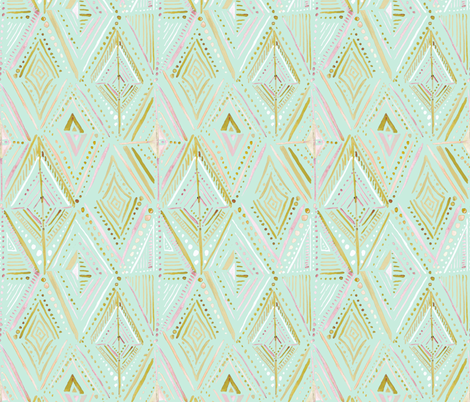 Boho Diamond-Mint fabric by crystal_walen on Spoonflower - custom fabric