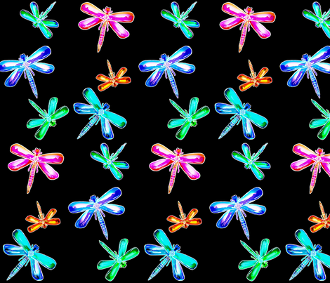 Colorful Flight (rainbow of colors) fabric by franbail on Spoonflower - custom fabric