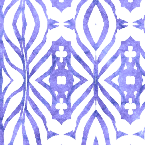 Monstera Abstract Watercolor, Amethyst fabric by palifino on Spoonflower - custom fabric