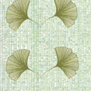 Ginkgo leaves green and gray
