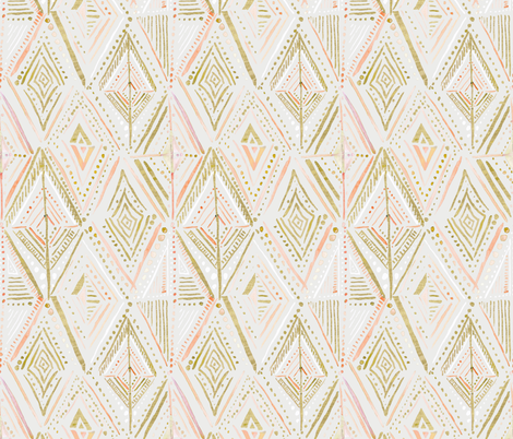 Boho Diamond-gray fabric by crystal_walen on Spoonflower - custom fabric