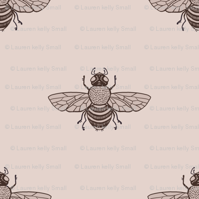 Bees Sepia Wide Spaced
