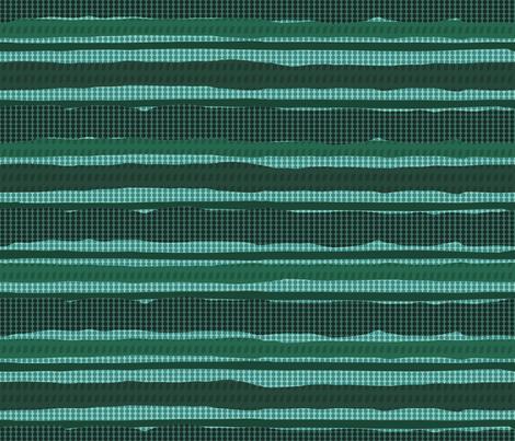 Irregular Stripes + Dots (Green Teal) fabric by doris_rguez on Spoonflower - custom fabric