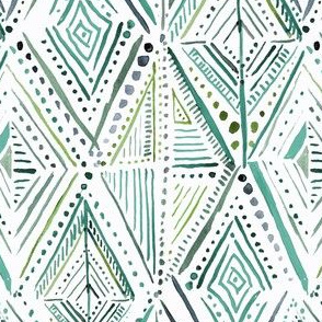 Boho Diamond-greens