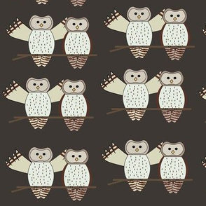 Twin Owls Brown