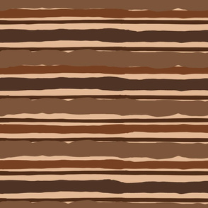 Irregular Stripes (Brown)