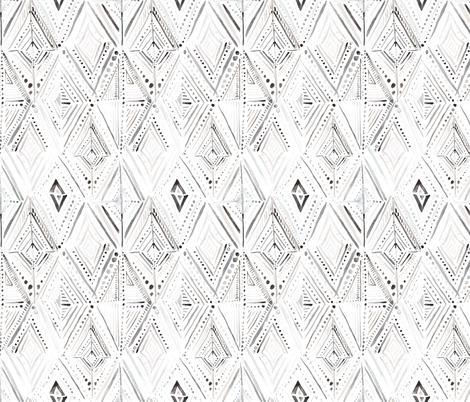 Boho Diamond Black White fabric by crystal_walen on Spoonflower - custom fabric
